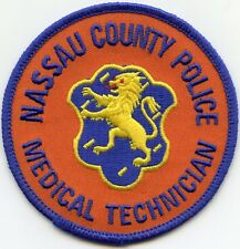 NASSAU COUNTY NEW YORK NY Medic Tech MEDICAL TECHNICIAN POLICE PATCH