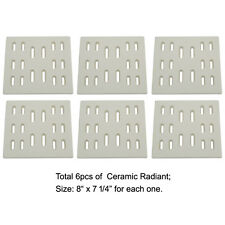 Replacement Ceramic Radiant Flame Tamer for Bakers and Chefs gas grills,(6-pack)
