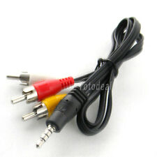 3.5mm Jack male to 3 RCA Adapter male Cable for Audio Video AV For Sony Canon TK