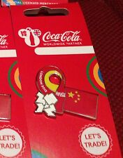 LONDON 2012 OLYMPICS COCA COLA CHINA PIN BADGE RIO 2016