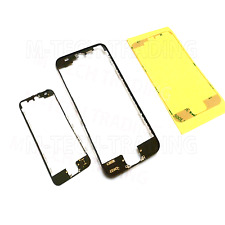 NUOVO 2 x iPhone 5 nero esterno LCD touch screen trim + Adesivo 3m parte