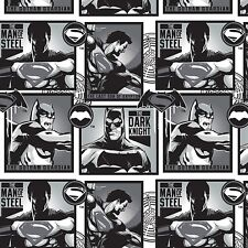 Dark Knight Batman v Superman Comics Camelot Quilt Fabric by the 1/2 yd