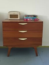 Retro Original Mid Century Danish 3 drawer dresser/side board/chest of drawers