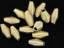 25 x 11mm Gold Plated Spring Coil Spacer Beads A161