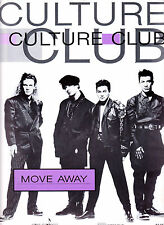 CULTURE CLUB-Move Away-1980's Original Australian Issue Sheet Music-Scarce