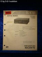 Sony Service Manual TC V701 Cassette Deck (#0825)