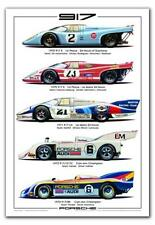 Porsche 917 History. Licensed Illustrations Car Poster!