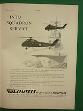 9/1961 PUB WESTLAND AIRCRAFT WESSEX HELICOPTER ROYAL NAVY SQUADRON FLEET ADVERT