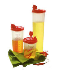 Tupperware Magic Oil Flow Dispenser Set of 3 (MEGA+MIDI+MINI)