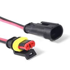 KFZ 2-Polig Kabel Steckverbinder Stecker Wasserdicht Schnellverbinder