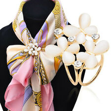 1PC Women Butterfly Crystal Tricyclic Scarf Ring Shawl Buckle Clip Holder Brooch