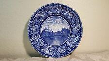 Rowland Marsellus Blue Staffordshire Faneuil Hall Boston Plate