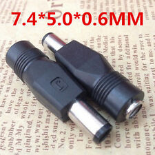 2.1x5.5mm F to 5.0x7.4mm Male DC Power Plug Connector Adapter for DELL HP Laptop