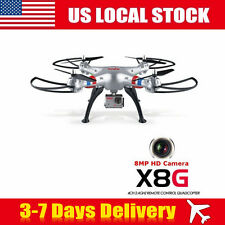 Syma X8G 2.4G 4CH Headless Mode RC Toys Drone Quadcopter with 8MP HD Camera