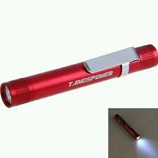 Red Mini Pen-type Portable LED 3W Battery Flashlight Torch Lamp
