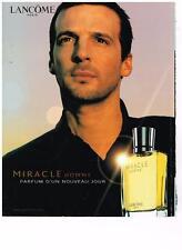 PUBLICITE  2002   LANCOME  boutique parfums MIRACLE HOMME