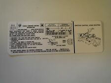 1971 BUICK GRAN SPORT GS REGAL RIVIERA LESABRE 455 4V STAGE 1 EMISSIONS DECAL