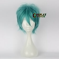 Turquoise Green Layred Basic30cm Short  Women Men Anime Cosplay Wig+Free  Cap