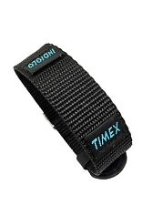 Timex Indiglo 18mm Black Canvas Performance Sport Wrap Replacement Watch band