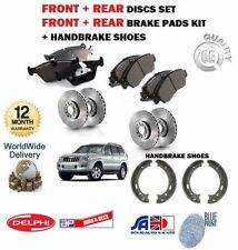 FOR TOYOTA LANDCRUISER 120 3.0 4.0 2002-  FRONT BRAKE DISCS + PADS + SHOES KIT