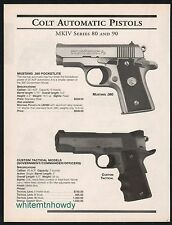 2000 COLT MK IV Series 80 90 Mustang 380 Government Commander Officers Pistol AD
