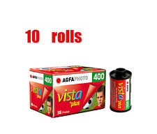 10 Rolls Agfa Vista Plus 400 35mm 135-36EXP Color Negative Film Dated 2019