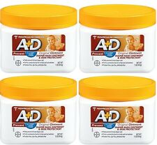 4 Pack A+D Original Diaper Rash & Skin Protectant Ointment 16 Oz Each
