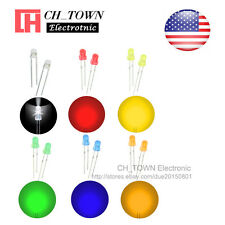 6kinds 120pcs 3mm LED Diodes Diffused White Red Yellow Green Blue Mix Kits