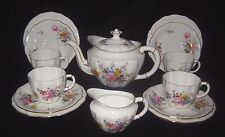Royal Crown Derby 'Posies' Teaset incld Teapot, Milk and 4 x Trios 14 pieces