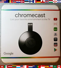 Google Chromecast 2 (2015 Model) - Black ✔ NC2-6A5 ✔ BRAND NEW ✔