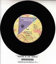 "PRINCE Thieves In The Temple 7"" 45 rpm vinyl record + juke box title strip"