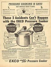 1947 vintage kitchen AD EKCO PRESSURE COOKER  3 way safety shield 091116
