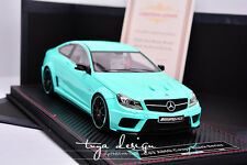 1/18 FrontiArt Mercedes-Benz C63 AMG Coupe   Resin Model Tiffanyblue