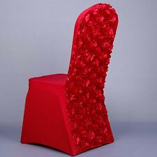 Floral Rose Chair Covers Spandex Lycra Cover Wedding Banquet Anniversary Party