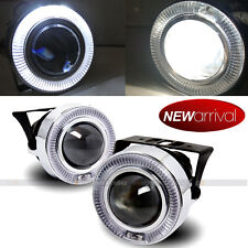 """For Eclipse 3"""" White Halo Projector Bumper Driving Fog Light Lamp Kit Set"""