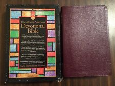 NIV 1984 African American Devotional Bible - Bonded Leather - Out of Print 84