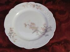 """Carlsbad Austria white scalloped plate pink blue flowers 9.5"""" across"""