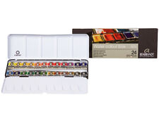 Rembrandt Artists Quality Watercolour Metal Box Set - 24 Half Pan