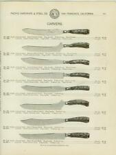Catalog Page Ad  Knife Carving Wostenholm & Sons Game Bird Carver Silver #2 1902