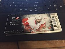 2015 DETROIT RED WINGS VS VANCOUVER CANUCKS TICKET STUB 12/18 JAKUB KINDL