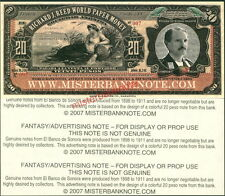 20 PESOS FANTASY ART ADVERTISING NOTE FOR MISTERBANKNOTE BY F-T-C-GRAFIX - UNC!