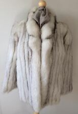 Vintage Elegant Blue Fox Fur Jacket – Size M/L