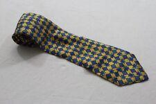 KR4091 Scotchgard Protector  Krawatte  gelb, blau, schwarz glänzend mit Motiv