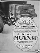 PUBLICITÉ MOYNAT LE BAGAGE D'AUTO ARRIMAGE BREVETÉ
