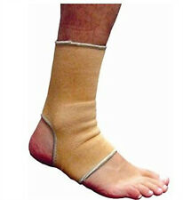 Elasticated Beige Ankle Twist Sprain Brace Support Pad Arthiritis Sleeve Tendon