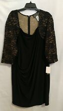 Alex Evenings Woman Plus 22W Black Sequin Dress NWT $156