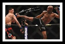 ANDERSON SILVA AUTOGRAPHED SIGNED & FRAMED PP POSTER PHOTO