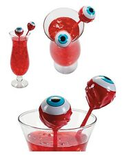 12 Zombie Eyeball Cocktail Drink Swizzles - Halloween Party Stirs / Bar Supplies