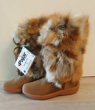 Pajar Canada Women's Fox Trot Boots - Beige - Real Fur - Sz. 38 - Made in Italy
