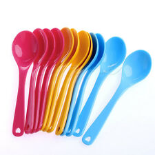 12Pcs Baby Feeding Spoon Safe Plastic Toddler Training Eating Spoon Food Set